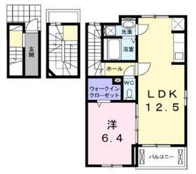 ヴィラスペランツア3階Fの間取り画像