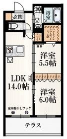 (仮称)東恋ヶ窪2丁目メゾン1階Fの間取り画像