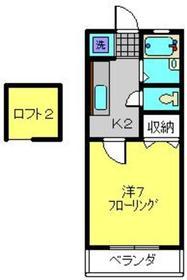 高津駅 徒歩34分2階Fの間取り画像