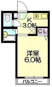 ボヌール・メゾン小淵2階Fの間取り画像