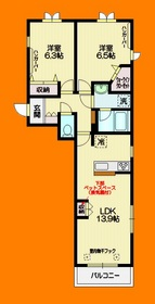 三鷹駅 徒歩22分2階Fの間取り画像