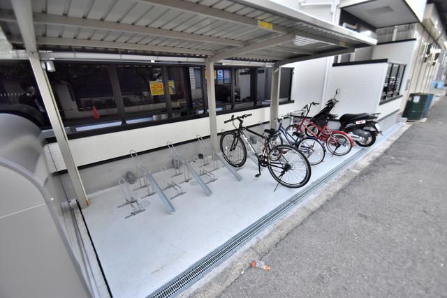 DOAHN 巽西 屋根付きの駐輪場は大切な自転車を雨から守ってくれます。