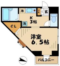 ルースト唐木田2階Fの間取り画像