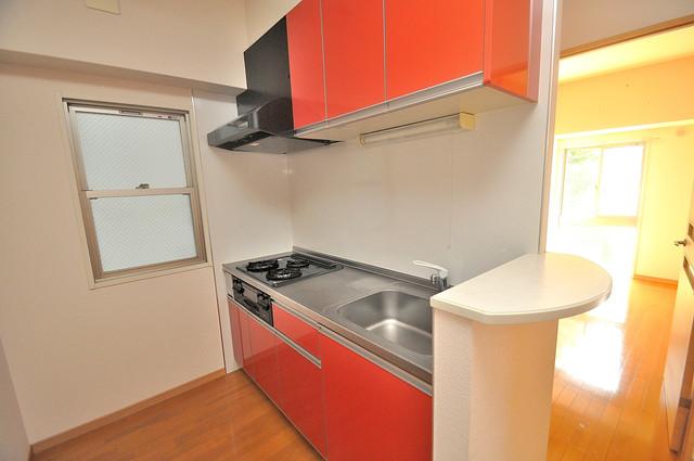 グランガーデン足代新町 システムキッチンなので広々使えて、お料理もはかどります。