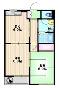 ベルメゾンフジ1階Fの間取り画像