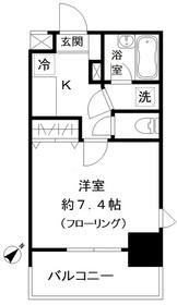 フォレシティ白金台11階Fの間取り画像