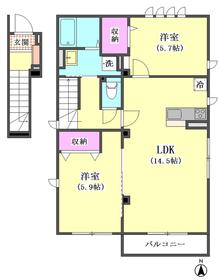 仮)カワバタメゾン 201号室