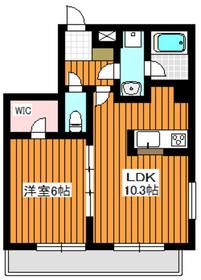 成増サン・マロニエ1階Fの間取り画像