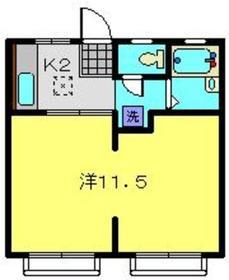 ローズハイツ1階Fの間取り画像