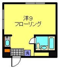 三橋ビル3階Fの間取り画像