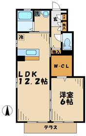 厚木駅 徒歩25分1階Fの間取り画像