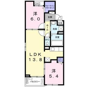 クラール KⅡ2階Fの間取り画像
