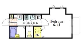CASA HIGUCHI1階Fの間取り画像