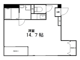 浅草五丁目ビル4階Fの間取り画像