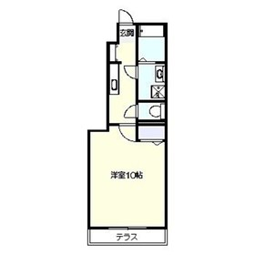 アザレア鎌倉1階Fの間取り画像