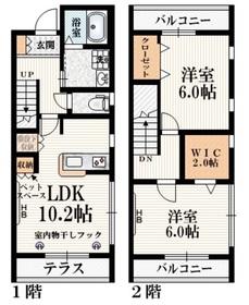 聖蹟桜ヶ丘駅 徒歩13分2階Fの間取り画像