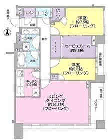 クラッシイハウス等々力ブラン5階Fの間取り画像