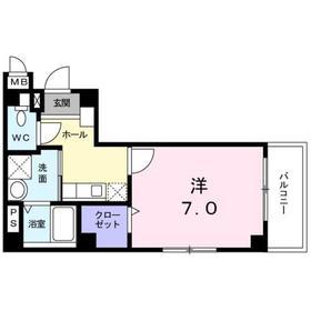 ホームポート押上3階Fの間取り画像