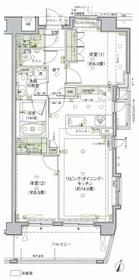 グランスイート桜新町5階Fの間取り画像