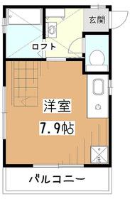 モカハウス2階Fの間取り画像
