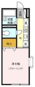 メゾンブランシュ1階Fの間取り画像
