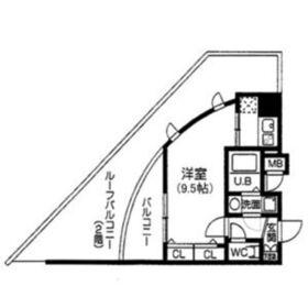 S-RESIDENCE谷町九丁目2階Fの間取り画像