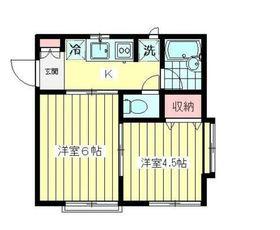 マツダハウスA棟2階Fの間取り画像