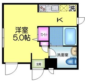 アージュドール錦糸町2階Fの間取り画像