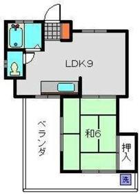 KKビル4階Fの間取り画像
