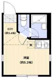 ユナイト藤棚ヴィセンテ・アミーゴ2階Fの間取り画像