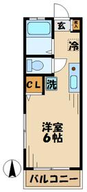 セシボンハツ1階Fの間取り画像