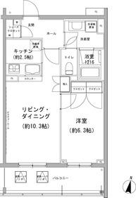 石川台駅 徒歩8分5階Fの間取り画像