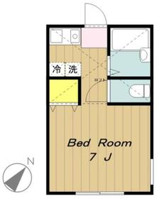 ミネルバ2階Fの間取り画像