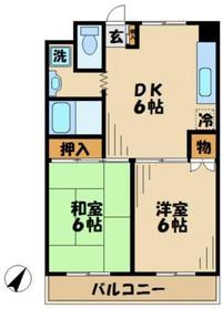 シャトルブラウンA3階Fの間取り画像