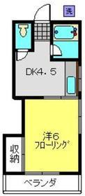 浅野アパート2階Fの間取り画像