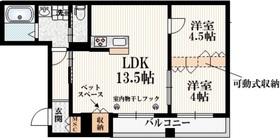 代々木八幡駅 徒歩15分2階Fの間取り画像