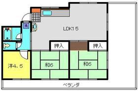 宮川マンション4階Fの間取り画像