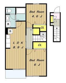 ジェルメⅡ2階Fの間取り画像