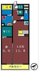 サンボナール(薬円台)1階Fの間取り画像