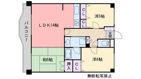 ライオンズマンション西新南2階Fの間取り画像