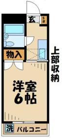ハイネス荒井2階Fの間取り画像