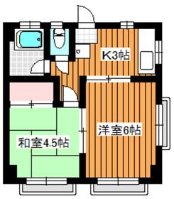 下赤塚駅 徒歩14分3階Fの間取り画像