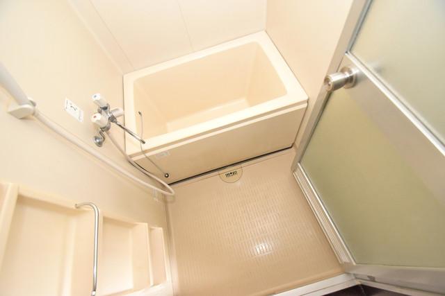 サンサーラ・タツミ ちょうどいいサイズのお風呂です。お掃除も楽にできますよ。