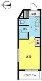 スカイコート神楽坂第27階Fの間取り画像