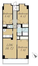 GrandDweller3階Fの間取り画像
