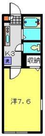 メゾンツルオカ1階Fの間取り画像