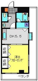 中川駅 徒歩1分4階Fの間取り画像