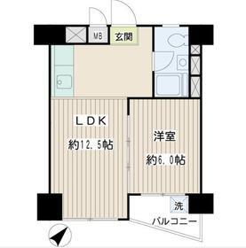 ニックハイム鶴見千代田ビル10階Fの間取り画像