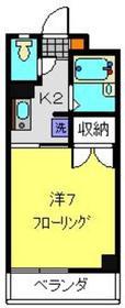 ツカヤマコートA2階Fの間取り画像