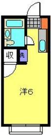レオ新横浜C棟2階Fの間取り画像